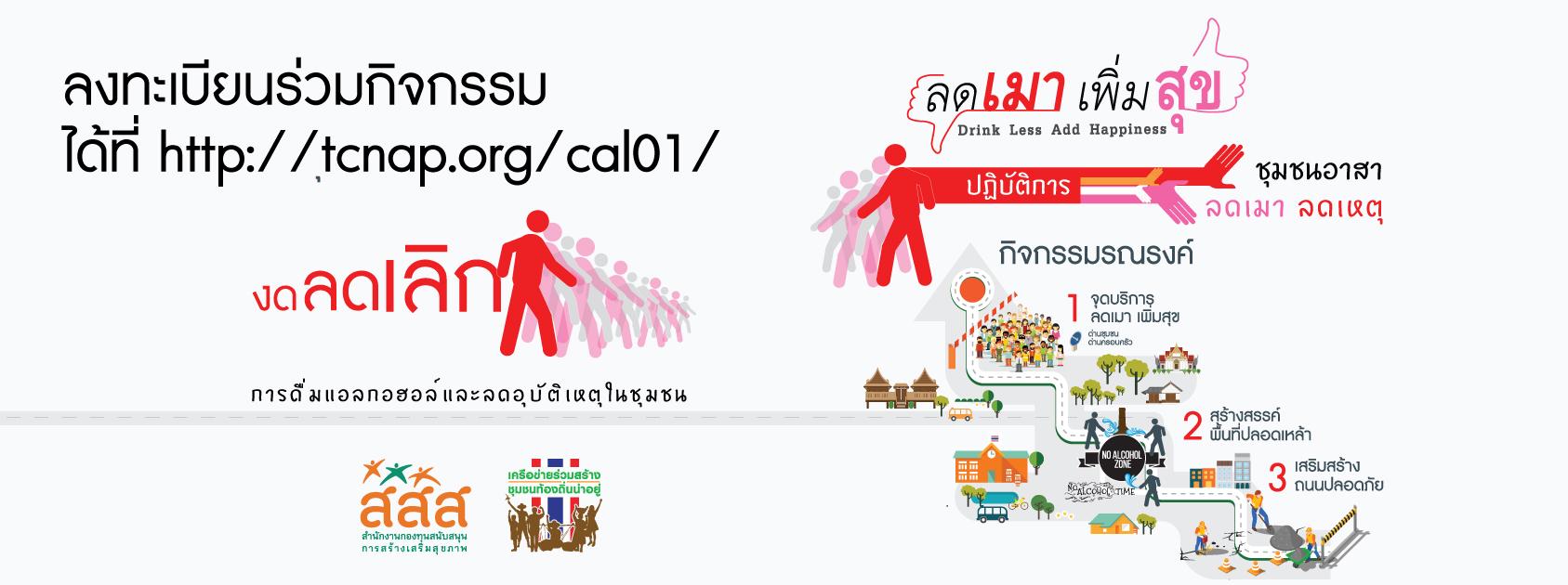 ขอเชิญชวนร่วมรณรงค์และสร้างการมีส่วนร่วมในชุมชนท้องถิ่นโดยการกำหนดมาตรการของชุมชน ๓ สร้าง