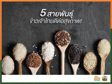 5 สายพันธุ์ข้าวเจ้าไทย ดีต่อสุขภาพ!