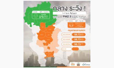 ภาคกลางระวัง! 1-7 ธ.ค. ที่ผ่านมา อุณหภูมิลด PM2.5 พุ่งสูงใน 17 ตำบล