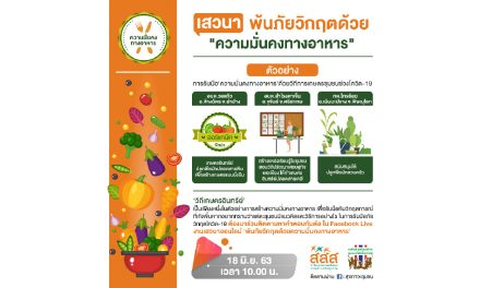 รับมือ 'ความมั่นคงทางอาหาร' ด้วยวิถีการเกษตรชุมชน